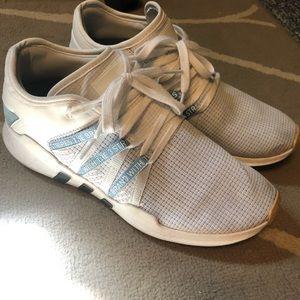Women's size 9 adidas EQT shoes white